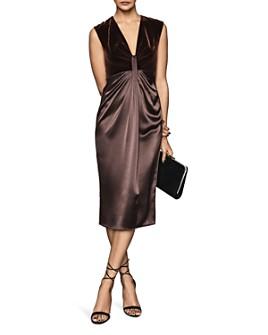 REISS - Livvy Velvet-Bodice Dress
