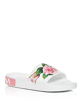 Dolce & Gabbana - Women's Floral Pool Slide Sandals