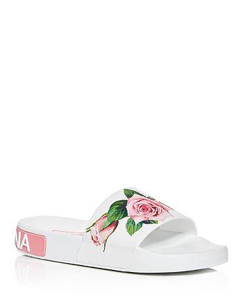 Dolce & Gabbana - Women's Floral Pool Slide Sandals
