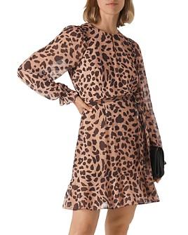 Whistles - Brushed Cheetah Flounced Dress