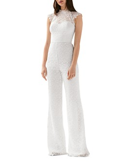 ML Monique Lhuillier - Wide-Leg Lace Jumpsuit