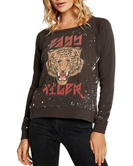 CHASER - Tiger Distressed Sweatshirt