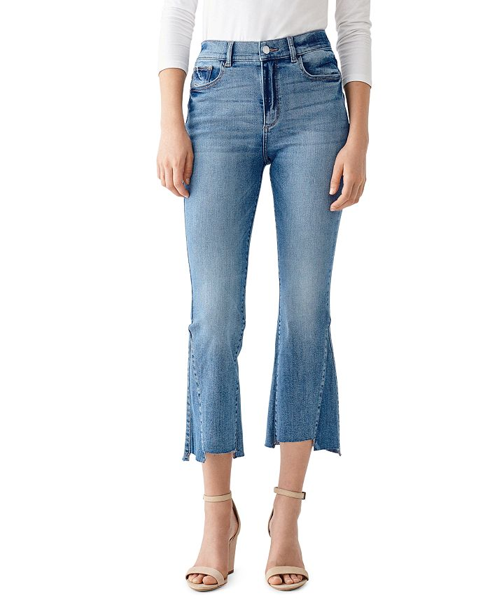 Dl DL1961 BRIDGET CROPPED BOOT-CUT JEANS IN LUDGATE