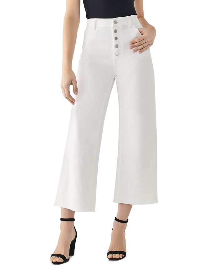 DL1961 - Hepburn High-Rise Cropped Wide-Leg Jeans in Tallac