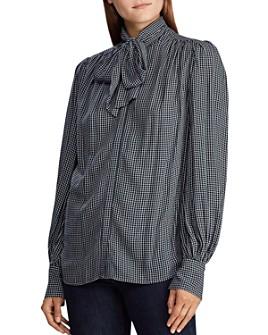 Ralph Lauren - Checked Bow-Detail Shirt