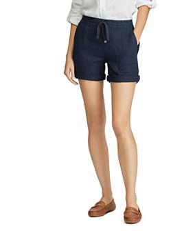 Ralph Lauren - Logo-Drawcord Linen Shorts