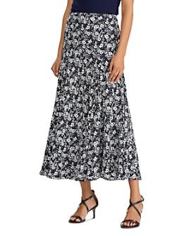 Ralph Lauren - Floral-Print Georgette Skirt