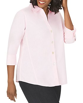 Foxcroft Plus - Paityn Three-Quarter Sleeve Poplin Shirt