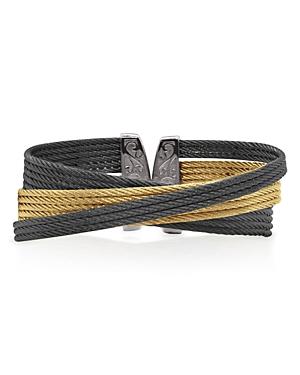 Alor Two-Tone Multi Cable Cuff Bracelet