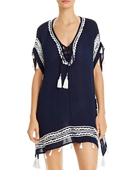 Surf Gypsy - Zigzag-Trim Tunic Swim Cover-Up
