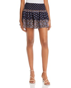 Ramy Brook - Livvy Smocked Silk Mini Skirt