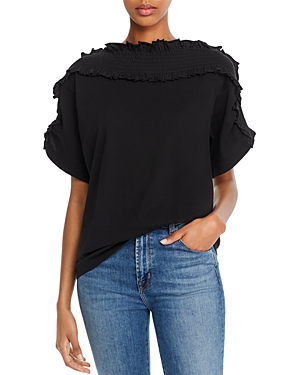 See by Chloe Smocked Ruffled Top