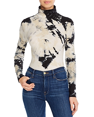French Connection Zyne Tie-Dye Turtleneck Top