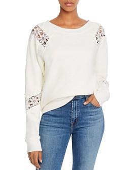 PAIGE - Daytona Lace-Inset Sweatshirt