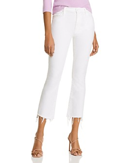 MOTHER - The Insider Crop Step Fray Flared Jeans in Fairest Of Them All