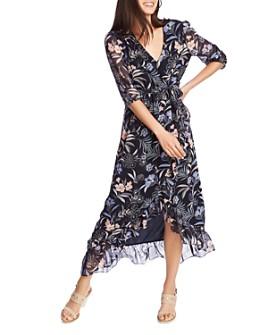 1.STATE - Floral-Print Wrap Maxi Dress