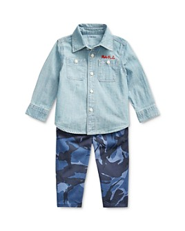 Ralph Lauren - Boys' Chambray Shirt & Camo Pants Set - Baby