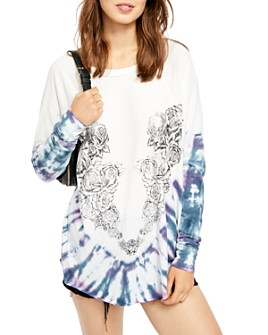 Free People - Heart In A Rose Tie-Dye Tee