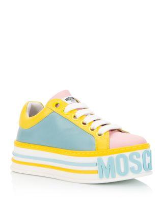 Moschino Women's Logo Platform Sneakers