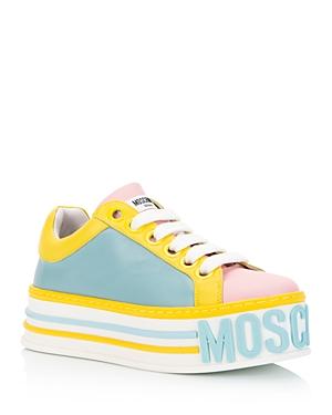 Moschino Women\\\'s Logo Platform Sneakers