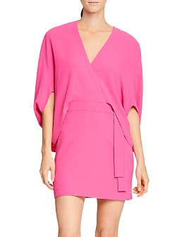 HALSTON - Draped Crepe Cocktail Dress