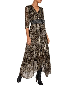 ba&sh - Jisy Metallic Leopard Print Maxi Dress