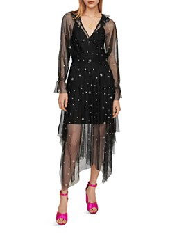 Maje - Restar Embroidered Tulle Midi Dress