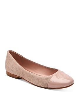 Taryn Rose - Women's Adrianna Cap Toe Weatherproof Ballet Flats