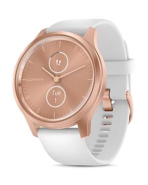 Garmin Vivomove Style Silicone or Nylon Strap Touchscreen Hybrid Smartwatch, 42mm