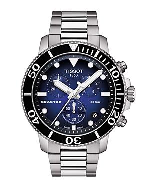 Tissot Seastar Chronograph, 45.5mm-Jewelry & Accessories