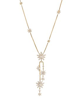 David Yurman - 18K Yellow Gold Diamond Starburst Cluster Necklace, 18""