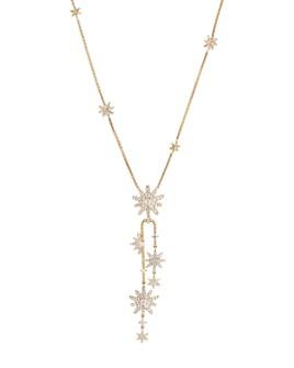 "David Yurman - 18K Yellow Gold Diamond Starburst Cluster Necklace, 18"""