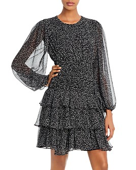 Bardot - Elaina Blouson-Sleeve Tiered Dress