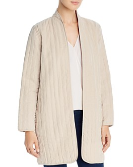 Eileen Fisher - Open-Front Quilted Jacket