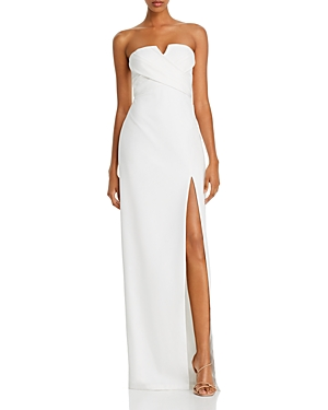 Strapless Crepe Gown