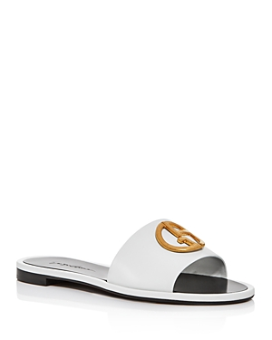 Armani Women\\\'s Logo Slide Sandals