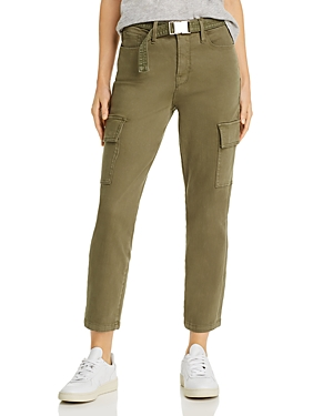 Good American Good Legs Cargo Ankle Pants in Olive009-Women