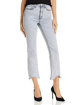 rag & bone - Nina High-Rise Ankle Flare Jeans in Marble White