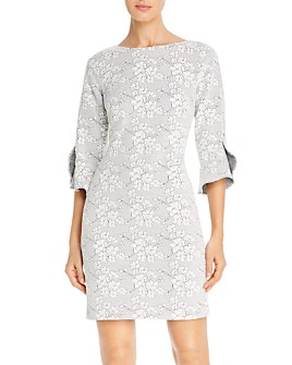KARL LAGERFELD PARIS - Floral Knit Dress