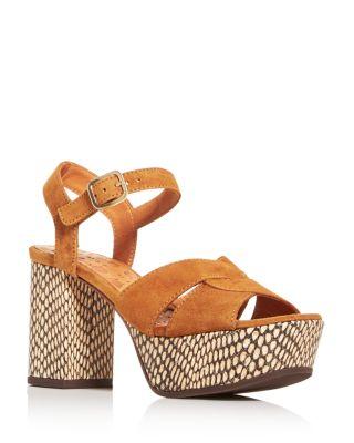 Dibe High Block-Heel Platform Sandals