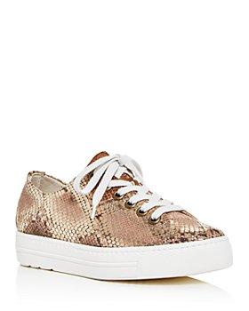 Paul Green - Women's Ally Snake-Embossed Platform Low-Top Sneakers