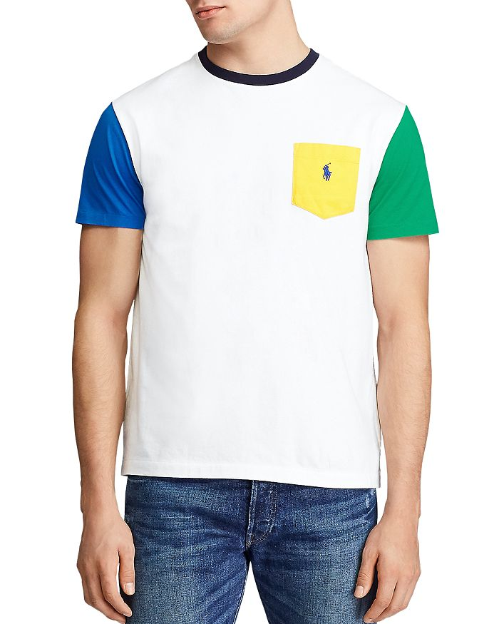 Polo Ralph Lauren - Classic Fit Color-Block Pocket Tee