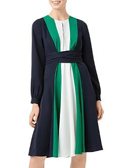 HOBBS LONDON - Lyla Color-Block Tie-Waist Dress