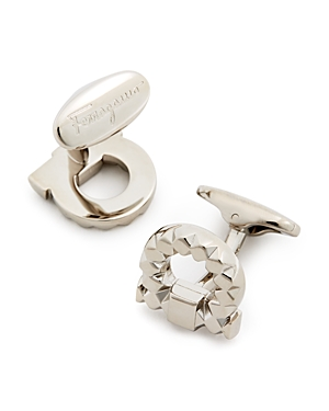 Salvatore Ferragamo Faceted Gancini Cufflinks