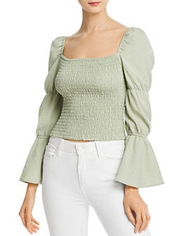 Sage the Label - Hazel Smocked Cropped Top