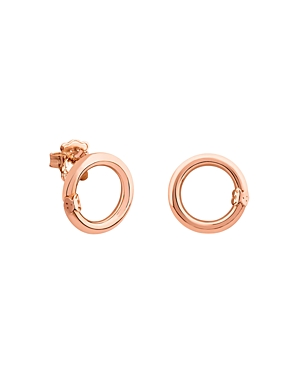 Tous 18K Rose Gold-Plated Sterling Silver Small Hold Earrings
