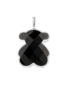 TOUS - Sterling Silver Onyx Large Bear Pendant