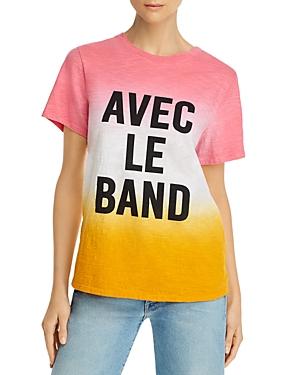 Cinq a Sept Cotton Avec Le Band Dip-Dyed T-Shirt