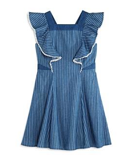 BCBGirls - Girls' Striped Crisscross-Back Dress - Big Kid