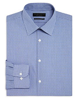 The Men's Store at Bloomingdale's - Mini Check Regular Fit Dress Shirt - 100% Exclusive